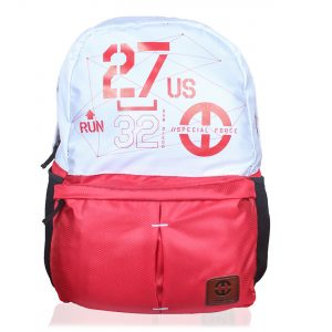 Genx Classic Red-White Casual Backpack