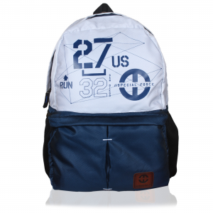 Genx Classic Blue-White Casual Backpack